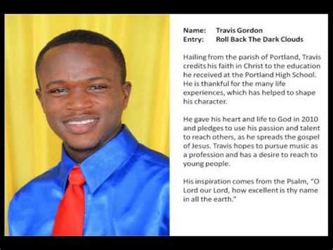Gorden Roll Jamaica Gospel Song Finalist 2014 Travis Gordon Roll