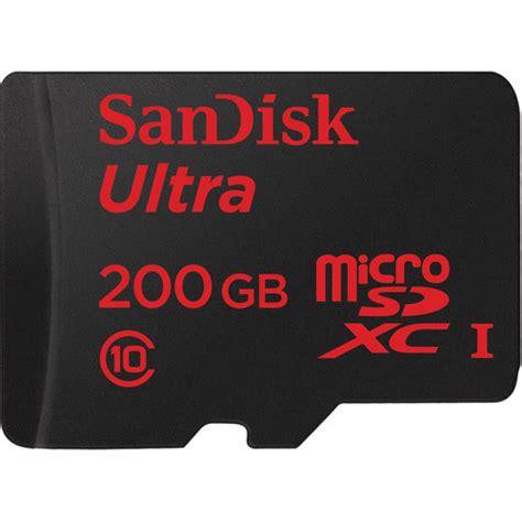 Sandisk Ultra Uhs Class 10 sandisk 200gb ultra uhs i microsdxc memory sdsdquan 200g a4a b h