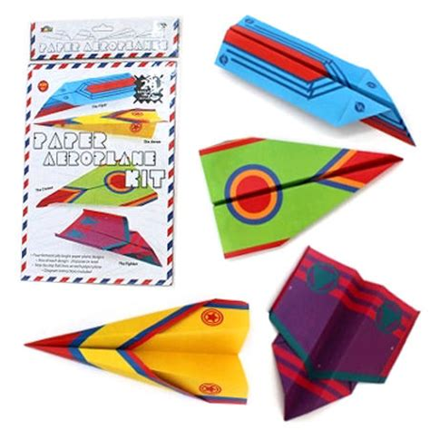 Paper Folding Toys - paper folding aeroplane kit x 20 my wooden toys