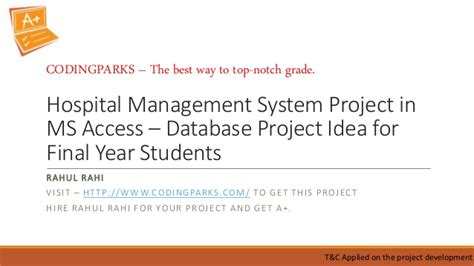 Mba Hospital Administration Projects by Hospital Management System Project In Ms Access Database
