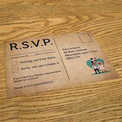 wedding invitations and rsvp foxes themed wedding invitation rsvp cards by magik
