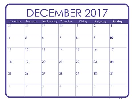 december calendar template december 2017 printable calendar templates free