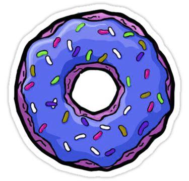 Duvet Donuts Quot Purple Donut Quot Stickers By Donald Crisp Redbubble
