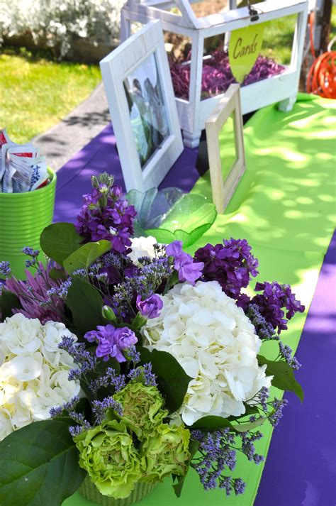 purple wedding flowers purple green wedding garden wedding