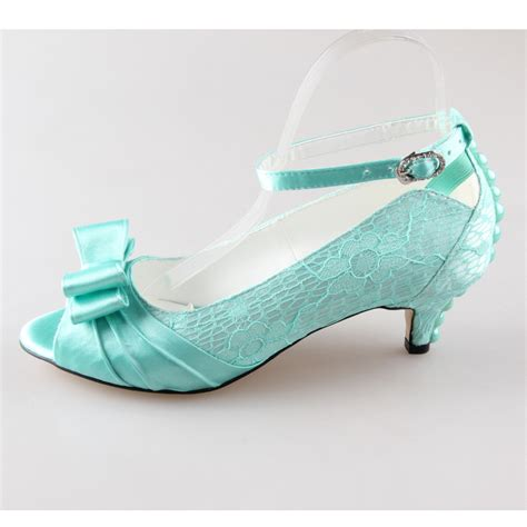 Heels Sandal Mint Pink creativesugar handmade mint green lace satin pearl bow open toe bow bridal wedding prom evening