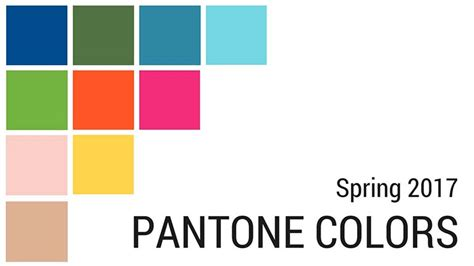 2017 spring colors trendy pantone photo selection for your website