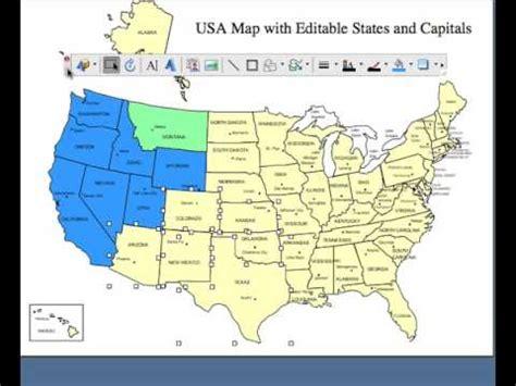 Editable Usa And Canada Powerpoint And Illustrator Royalty Editable Map Of Usa