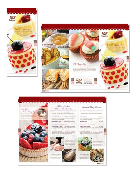 bakery brochure template free artisan decorative bakery tri fold brochure template