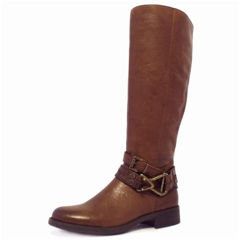 knee high brown boots gabor bluebell modern knee high boots in brown leather