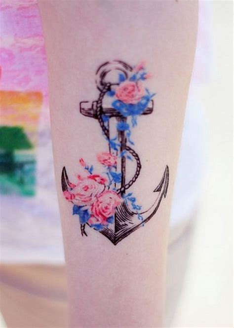 anchor tattoo with flowers 15 anchor designs you won t miss pretty designs