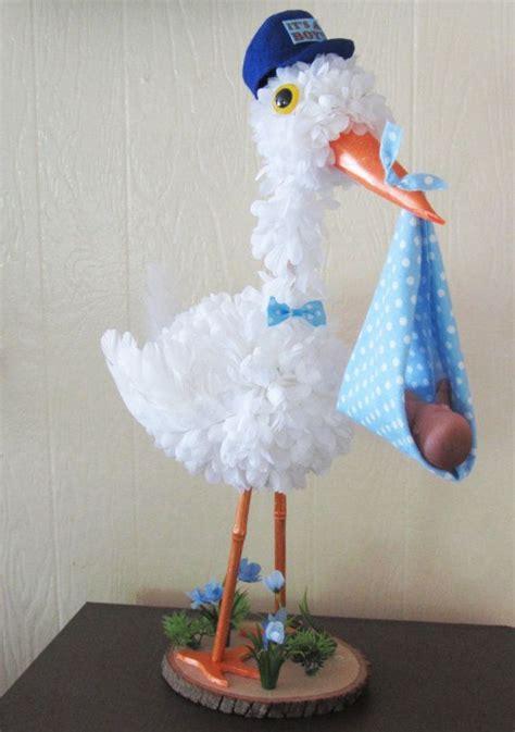 stork centerpiece baby boy stork centerpiece unique baby