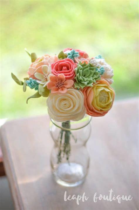 Handmade Bouquet Flowers - best 25 felt flowers ideas on felt roses