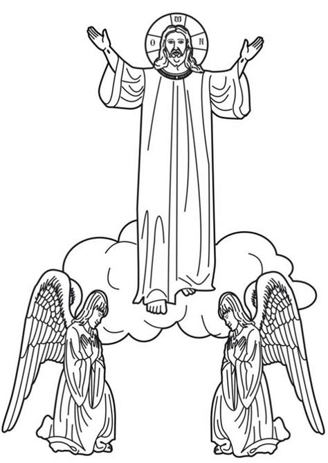 Ascension Of Jesus Christ Coloring Pages Family Holiday Jesus Ascension Coloring Page