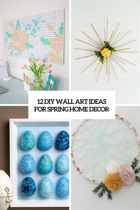 artistic home decor 12 diy wall ideas for home d 233 cor shelterness