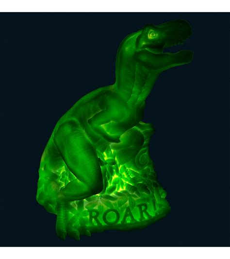 Goodnight Light Dino L Neon Green Dinosaur Lights