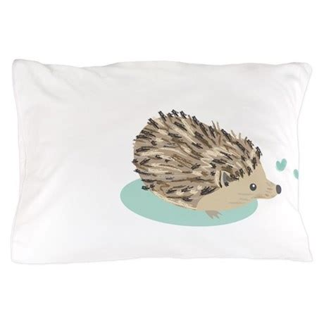 His And His Pillow Cases by His Hedgehog Pillow