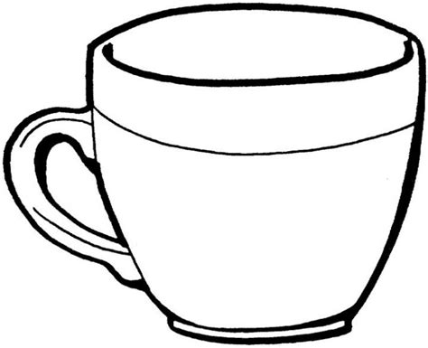 Cupped Outline by Coloriages D Objets Tasse