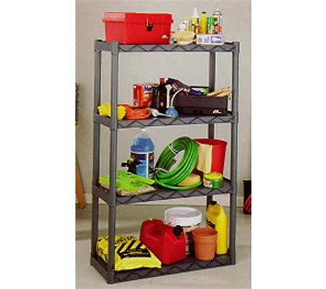 Qvc Garage Storage Plano 904 Durashelf Plastic Shelving Unit 4 Shelves