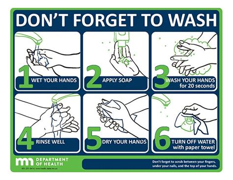 printable hand washing poster don t forget to wash poster minnesota dept of health