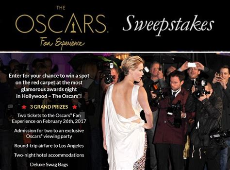 People Magazine Sweepstakes - people s red carpet oscars fan experience 2017 sweepstakes sweepstakesbible