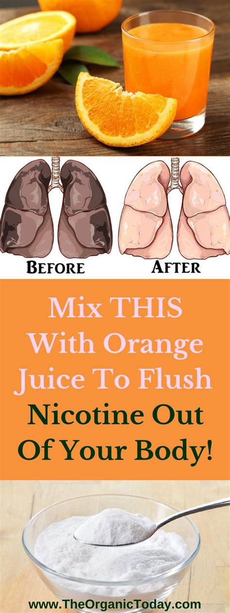 Detox Nicotine Out Of Your System by Mix This With Orange Juice To Flush Nicotine Out Of Your