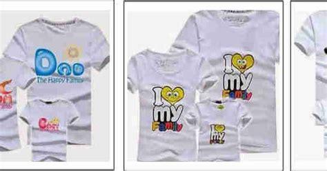 Paket Kaos Pasangan2 Org Anak 003 kaos family keluarga desain sendiri kdtg 1an
