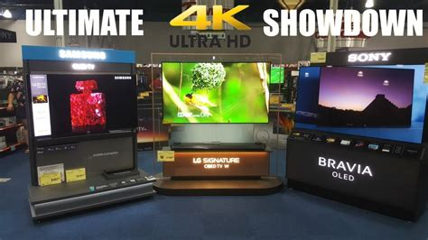 samsung v lg tv the ultimate 4k tv showdown samsung vs lg vs sony