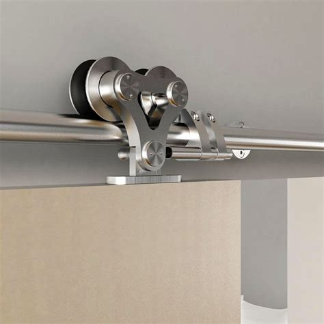5ft 6ft 6 6ft 8ft Top Mounted Stainless Steel Double Rollers For Sliding Barn Doors