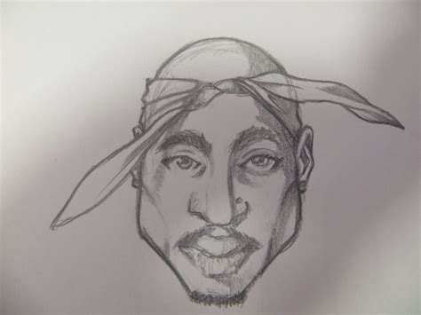 2pac Sketches by A Sketch Of Tupac Shakur By Thiagobento On Deviantart
