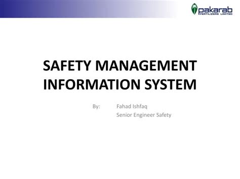 Management Information System Ppt For Mba by Ppt Safety Management Information System Powerpoint