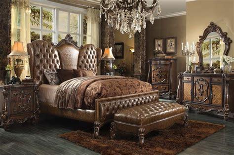 cherry oak bedroom set versailles 6 piece bedroom set in cherry oak finish by