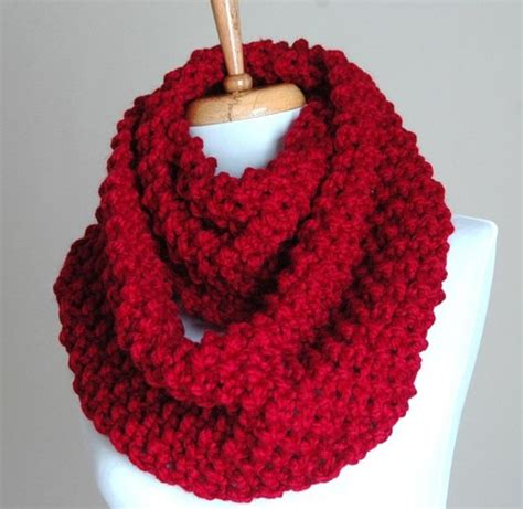 how to knit an infinity scarf infinity scarf cranberry knit chunky textured