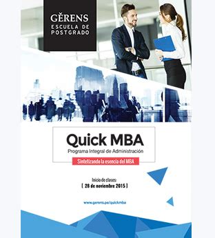 Fast Mba Program by Programa De Mba Gerens