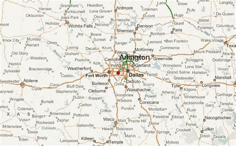 map of texas arlington arlington location guide