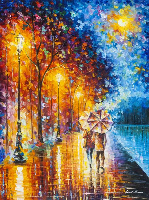Painting Palette by the lake 2 palette knife painting on canvas