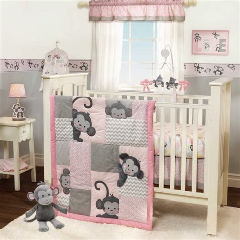 Monkey Baby Crib Bedding Theme And Design Ideas Family Monkey Themed Crib Bedding Set