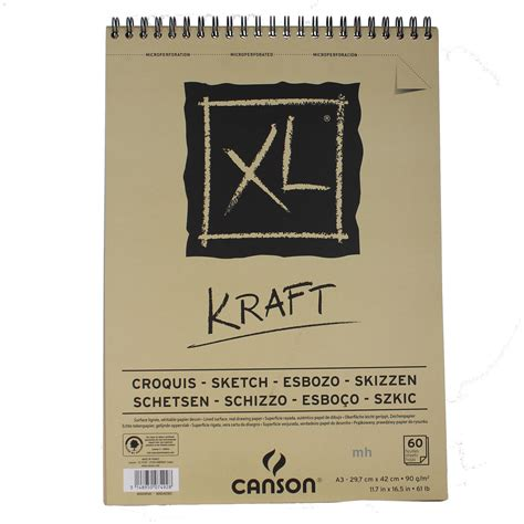 sketchbook canson a3 canson xl kraft a3 60 page brown paper sketch pad ebay