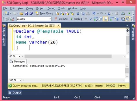 Sql Declare Table Variable by Sql Declare Table Variable Table Variable In Sql Server