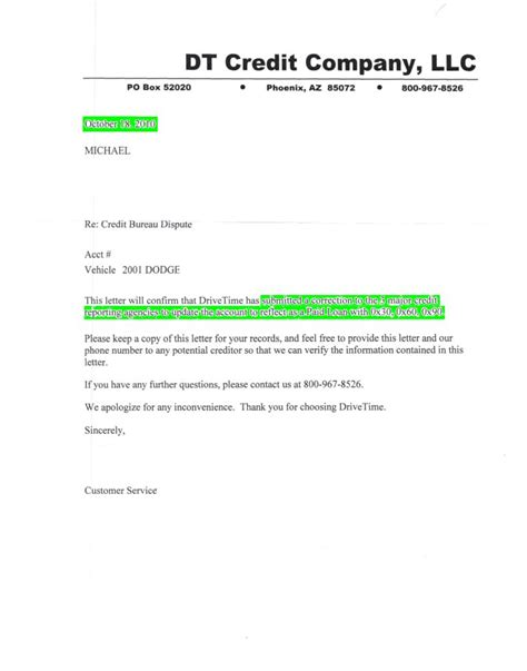 Credit Deletion Letter Template Credit Report Credit Report Letter Of Deletion