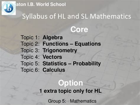 Mathematics For The Ib Diploma Higher Level Statistics And Probabilit ib diploma 5 mathematics