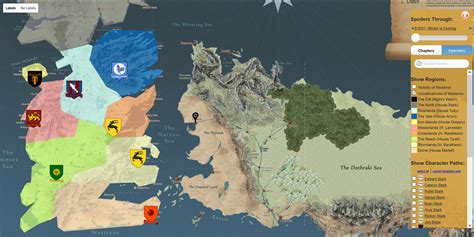 got map this map shows you around the of thrones universe