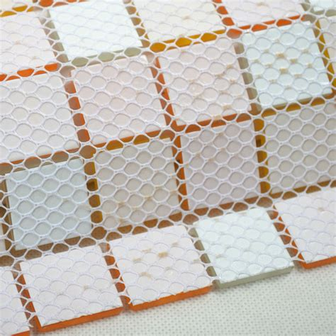 Glass Mosaic Tiles White And Orange Mixed Crystal Glass | glass mosaic tiles white and orange mixed crystal glass