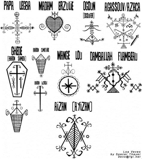 hatian voodoo veve symbols meaning veves of the loas sigils veves potent symbols