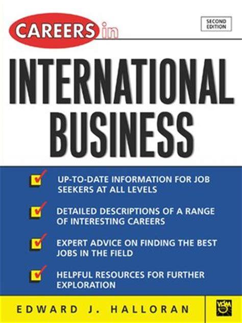 international business international business careers list
