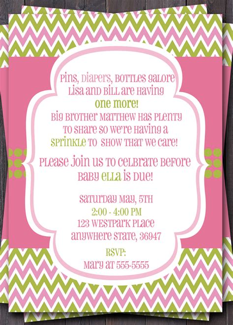 Sprinkle Invitations Templates by Baby Sprinkle Invitation Wording Best Business Template