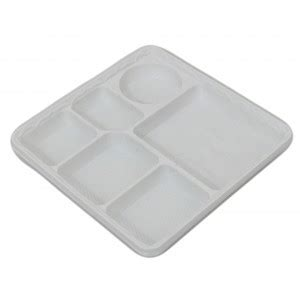 Disposable Plates With Sections by 6 Section Plates Square Trade Catering