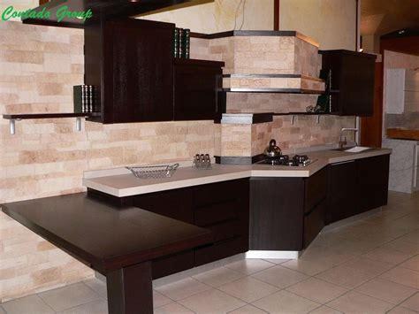 piastrelle cucine moderne cucina black line con pietra ricostruita contado roberto