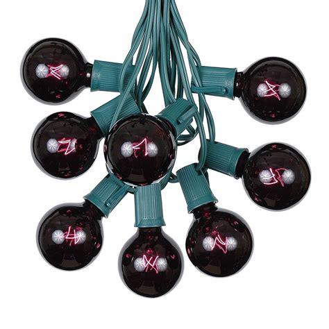black light string black light satin g50 globe outdoor string light set