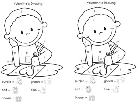 coloring pages for vowels kindermyles we heart vowels