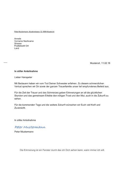 Lebenslauf Lehrperson Schweiz kondolenzschreiben beispiel muster vorlage ch